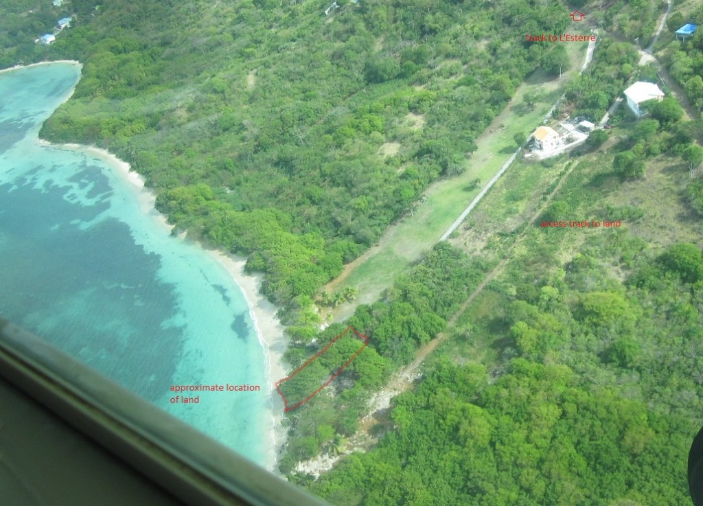 Aerial View of 14,520 sq. ft beach fronting land in St. Louis
