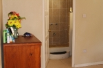 Typical apartment bedroom and ensuite bathroom