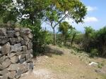 Stone walls in garden