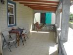 Covered veranda with hammock