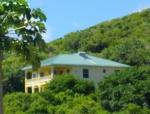 House nestled into hilside