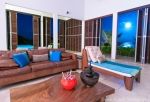 Moon light in the living area