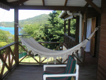 Front deck with hammock