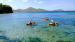 Kayaking in Tom's Bay below Yellow Bird
